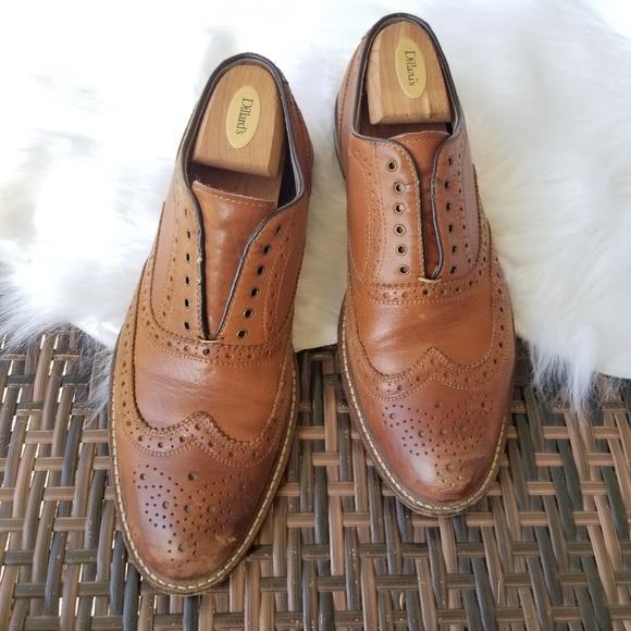 Aston Grey Shoes   Mens Wingtip Oxford